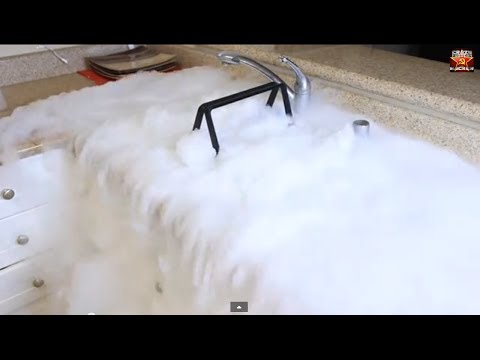 Giant Dry Ice Bubble Experiment Youtube