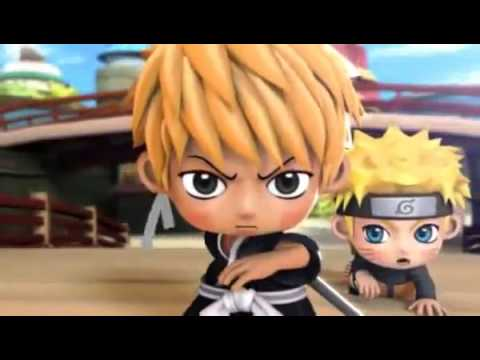 Naruto Chibi Characters Fighting