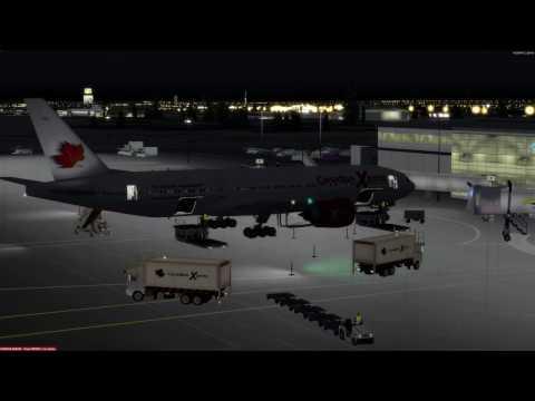 Boeing 777-200 Moncton (CYQM) to Charlotte (KCLT) P3D v3.4