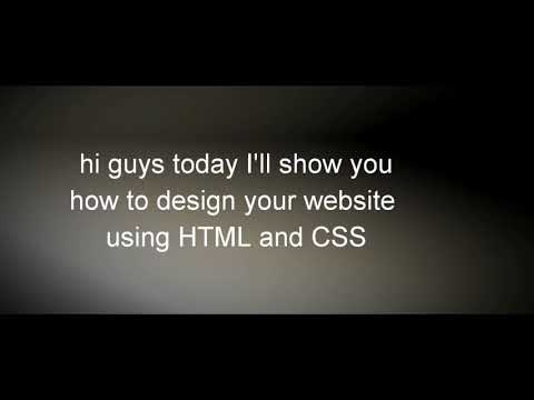 How to design your website using HTML and CSS in decoder