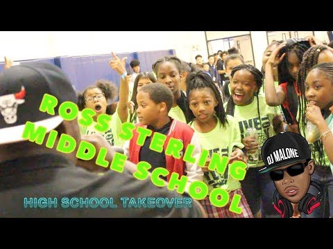 DJ MALONE - 93.7 the beat HIGH SCHOOL TAKEOVER Ross Sterling Middle School-  SHOT BY @FILMOORSTUDIOS