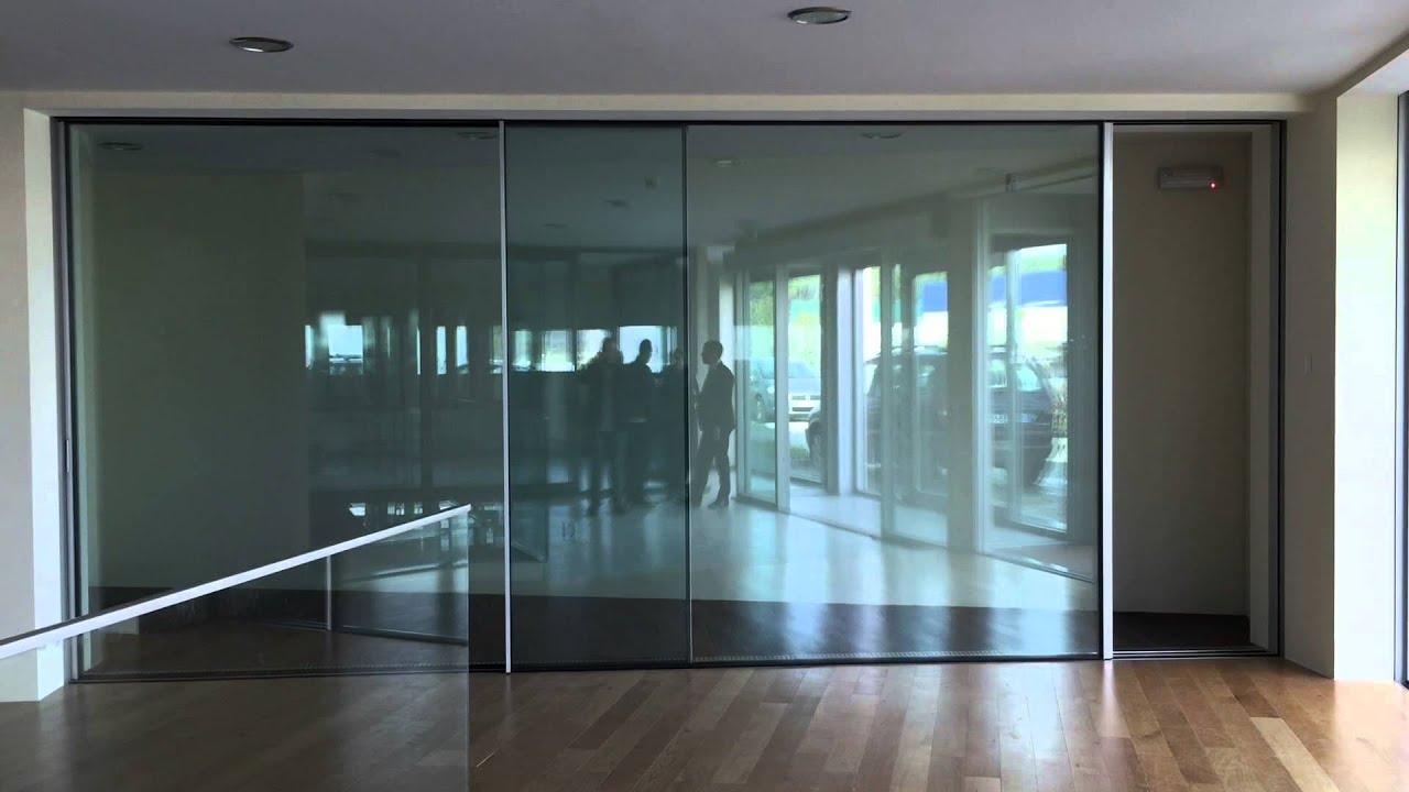 Minimal automatic sliding door via procut youtube for Electric sliding glass doors