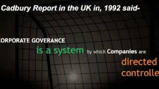 Corporate Governance in Recent Times