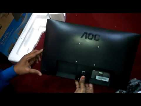 AOC LED Monitor 16 Inch With USB Power Unboxing And Review AOC Monitor  E1670Sw