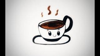 تعليم رسم فنجان قهوة كيوت للمبتدئين Teach A Cup Of Coffee For Beginners Youtube