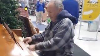 악기 판매점을 들었다 놓은 이 할아버지