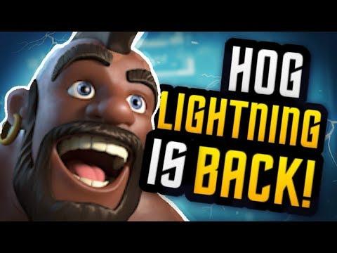 *NEW META* BEST HOG LIGHTNING DECKS for LADDER Arena 9, 10, 11 & 12
