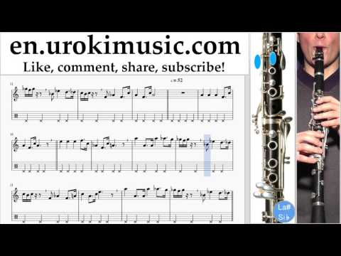 How to Play Clarinet Star Wars - Imperial March Tabs Part#2 um-i352