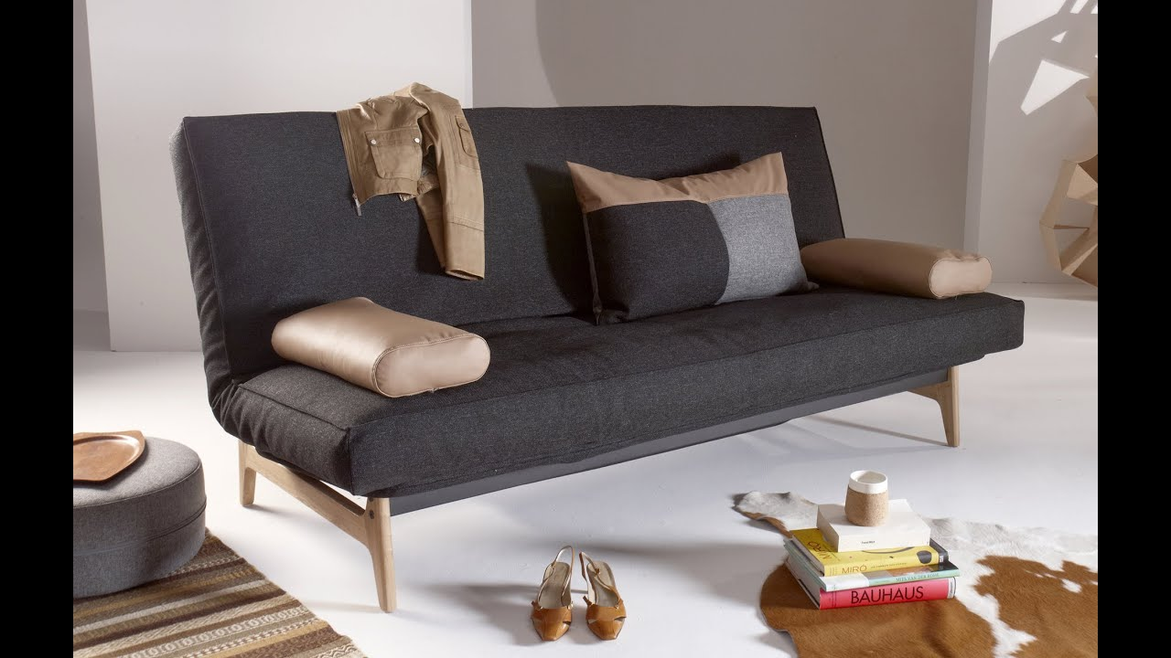 ASLAK SOFA BED, with Soft Spring mattress - YouTube