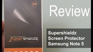 Supershieldz® Samsung Galaxy Note 5 Tempered Glass Screen Protector