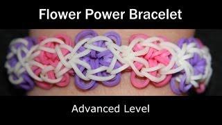 Repeat youtube video Rainbow Loom® Flower Power Bracelet