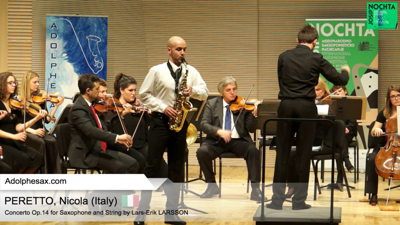 Nicola PERETTO (Italy) –  Concerto Op14 by  Lars Erik Larsson
