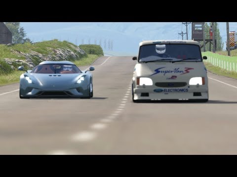 Koenigsegg Regera Vs Ford Supervan III V10 At Highlands