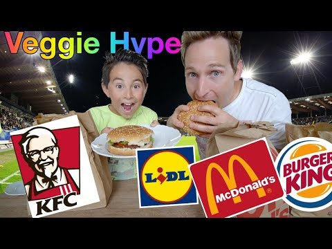 Veggie Hype Burger Test 🍔: Fleischesser testen Veggie Burger von Beyond Meat, McDonalds, KFC, BK