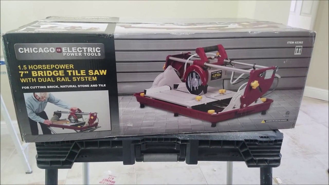 Harbor Freight Bridge Tile Saw From Chicago Electric Review