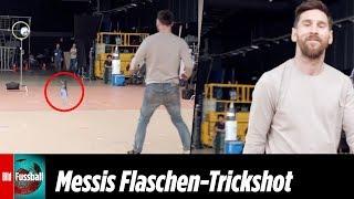Fake oder echt? Messi mit irrem Bottle-Flip-Trickshot
