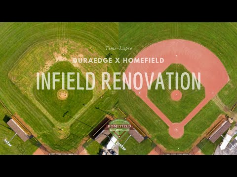 Baseball Infield Renovation | Time Lapse | DuraEdge Products x HomeField | 2019