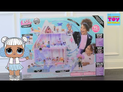 LOL Surprise Chalet Winter Disco Dollhouse Unboxing & Review | PSToyReviews