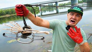 Нашли эту жуткую находку на магнитной рыбалке там где утонул человек
