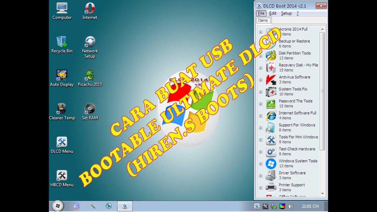 CARA MEMBUAT USB FLASHDISK DLCD BOOT ULTIMATE ( HIREN.S) - YouTube