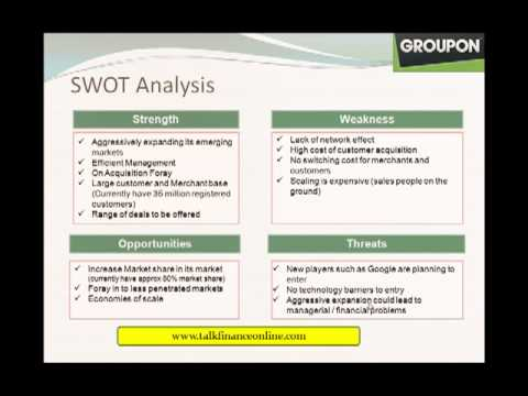 Groupon Business Model And Swot Analysis Youtube