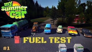 Which vehicle uses the most fuel - BIG TEST - My Summer Car Test #1