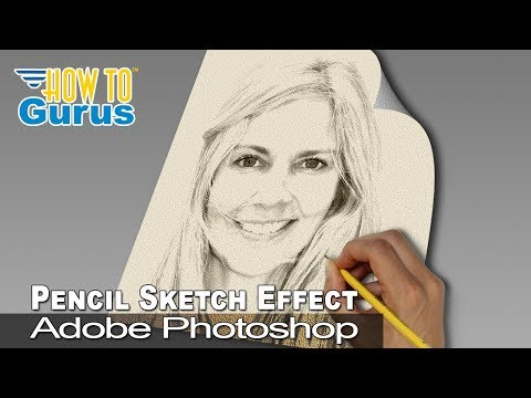 Photoshop pencil sketch effect from a portrait photo cc 2018 cs6 cs5 tutorial