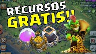 CÓMO CONSEGUIR RECURSOS GRATIS!!! - CLASH  OF CLANS