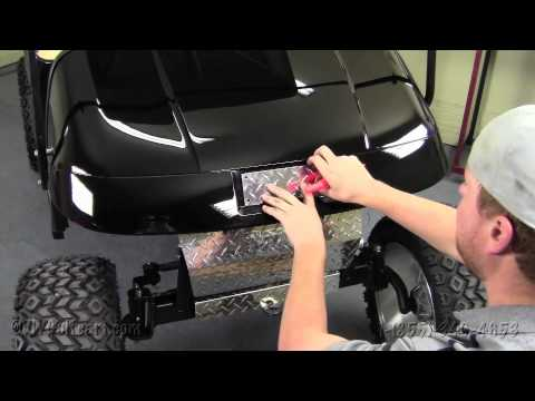 Ezgo diamond plate decal cover how to install video installing a golf cart name plate