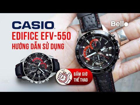 Cách Chỉnh Giờ Đồng hồ Casio Edifice EFV-550 - BONUS Chỉnh Kim Bấm Giờ Thể Thao Khi Bị Lệch