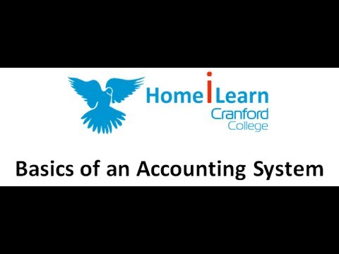Basics of an Accounting System Part 01