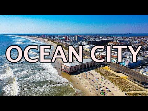 Ocean City NJ Beach Boardwalk 4K