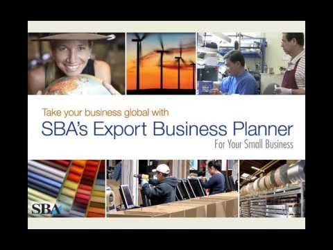 Why and How to use the SBA Online Export Business Planner