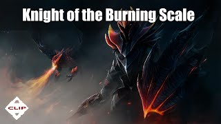 Dota 2 - Knight of the Burning Scale - Dragon Knight ( HUD, ultimate skin )