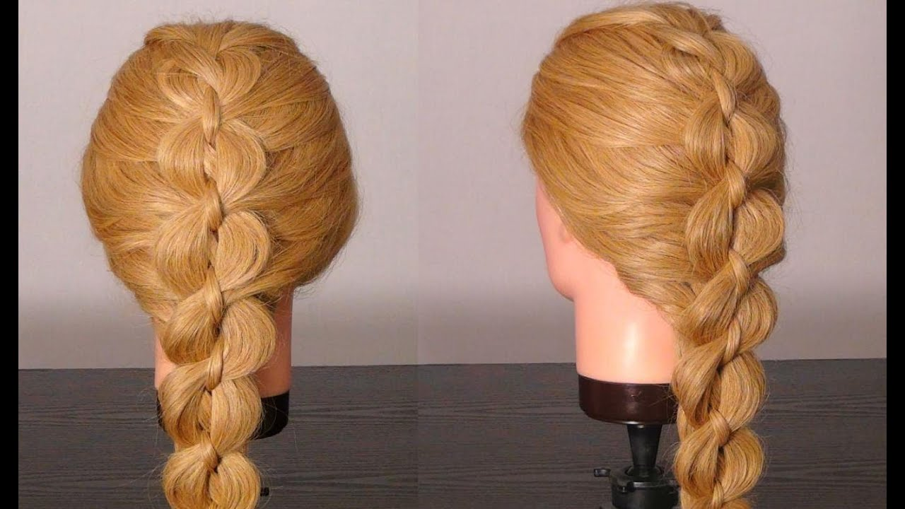 Hair Styles For Braids Pictures: Braided Hairstyles (5 Strand Braid). Плетение косы
