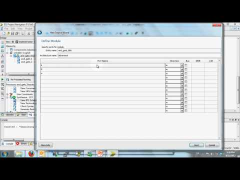Component instantiations in VHDL - using Xilinx ISE 14.1