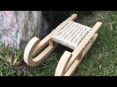 How to make a wooden deco sled