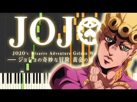 JoJo's Bizarre Adventure Golden Wind - main theme Il vento d'oro using only piano