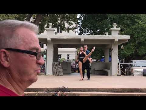 Kelci Pickering and Benjamin Brock dance to