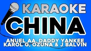 Anuel AA, Daddy Yankee, Karol G, Ozuna & J Balvin - China KARAOKE