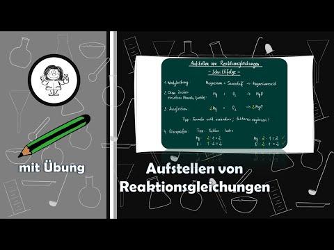 8 Aufstellen von Reaktionsgleichungen - YouTube