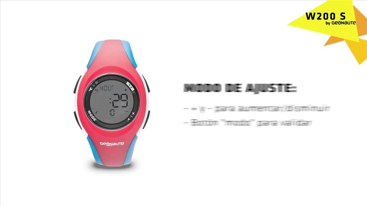 nuevo producto 7a4a0 77f67 ES- SAV - GEONAUTE W200 Cómo se ajusta la fecha y la hora