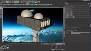 Cinema 4D Tutorial - Space Lighting - Part 2 - Textures and Basic Lights