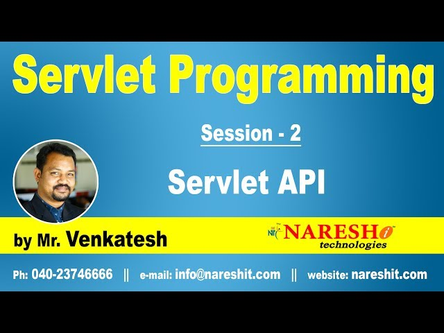 Servlet Tutorial | Servlet API | Servlet Programming Part-2 | Mr.Venkatesh