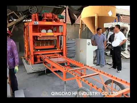 QT4-25C block making machine with PLC control unit