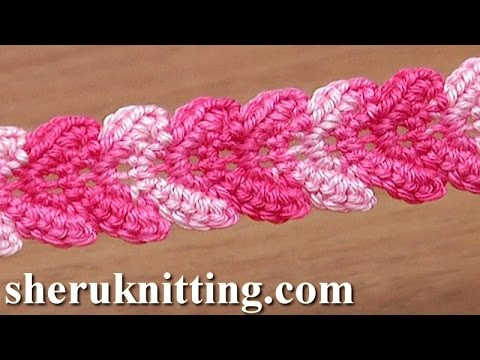 Crochet Stitches Tutorial Youtube : ... Braid Lace Ribbon Tutorial 30 Single Crochet Stitches - YouTube