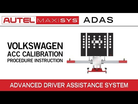 Volkswagen ACC Calibration Procedure Instruction