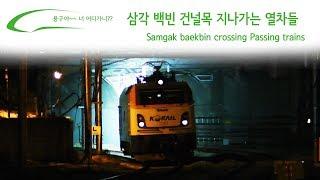 삼각 백빈 건널목 지나가는 열차들 / Samgak baekbin crossing Passing trains / サムガクベクビン踏切通過列車