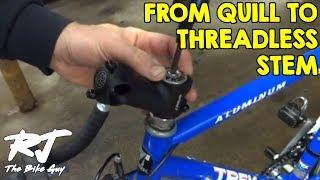 "Bikes Quill Adapter Bicycle Stem Adaptor Riser Convert 1/"" to 1-1//8/"" Threadess"