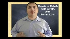 what homes are eligible for FHA 203k rehab financing?